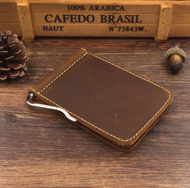 Men/'s Genuine Leather Bifold Wallet Money Clips Fashion Purse