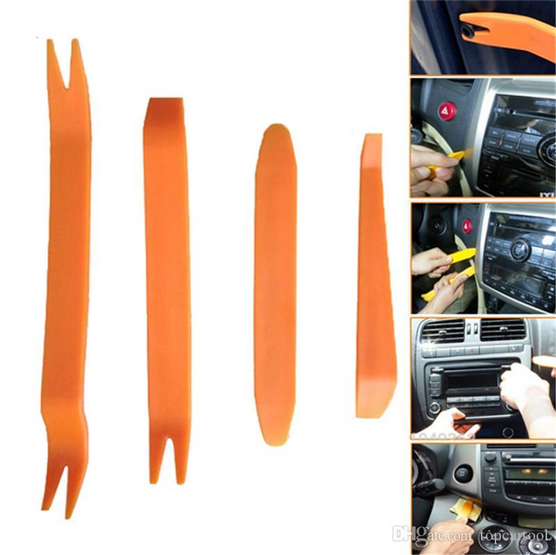 RERAS 4pcs Auto Car Radio Pannello Porta Clip Pannello Trim Dash Audio Installazione di rimozione Strumento di riparazione Pry portatile Pratico