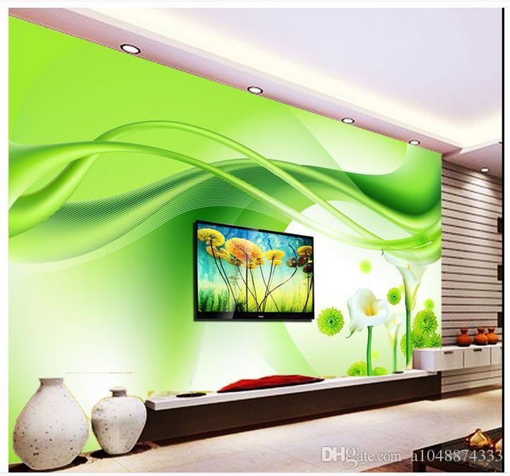 Großhandel High End Benutzerdefinierte 3d Fototapete Wandbilder Tapeten  Grün Horseshoe Lilie Blumen 3D Wohnzimmer Tapete Hintergrund Wand  Wohnkultur ...