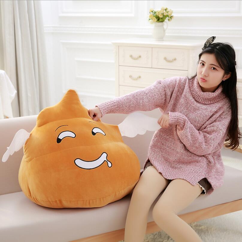 Venda quente dos desenhos animados merda travesseiro brinquedo de pelúcia criativo capricho almofada de pelúcia animal de dia dos namorados presentes