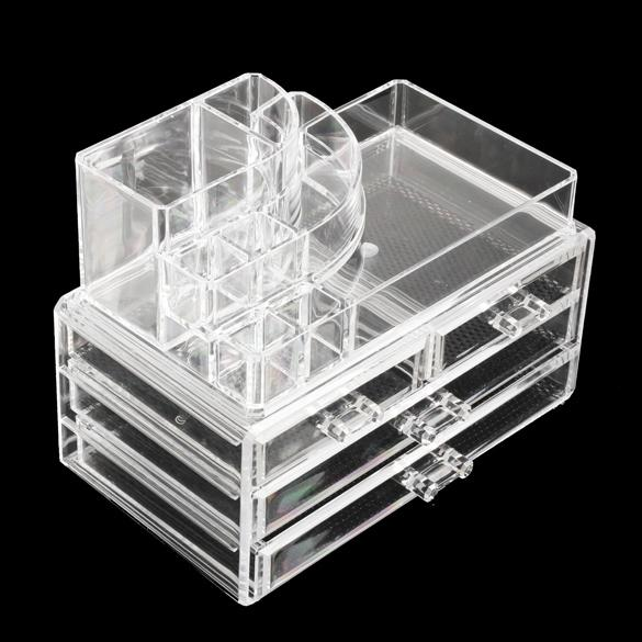 Luxury Acrylic Cosmetic Organizer Lipstick Holder Display Stand Clear Makeup  Case Makeup Organizer Organizador Storage Container ...