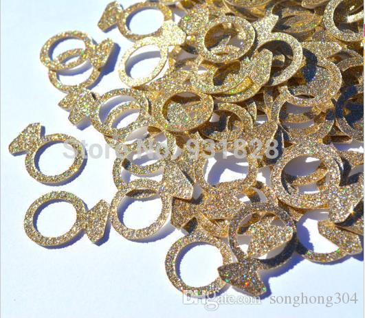 Custom 150pcs glitters Bling Diamond Ring confettis wedding table scatters Christmas bridal shower bachelorette party decorations Event