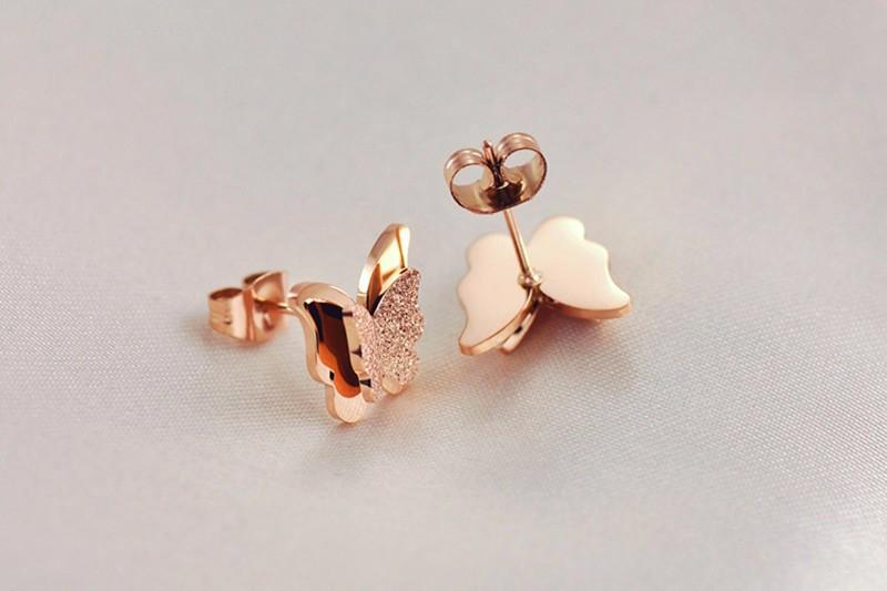 18K-Ros-Gold-Earrings-For-Women-And-Girls-Stereo-Frosted-Double-Butterfly-Animal-Earrings-Studs-Christmas-Gift-2015 (10)