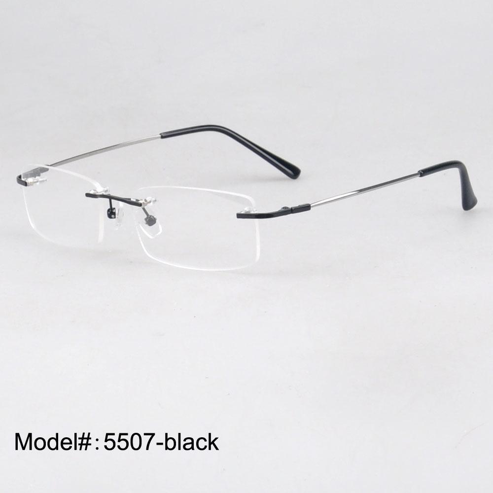 Atacado-5507 Whole sales 50 peças / lote memória sem aro de titânio articulada armações de óculos óculos espetáculos
