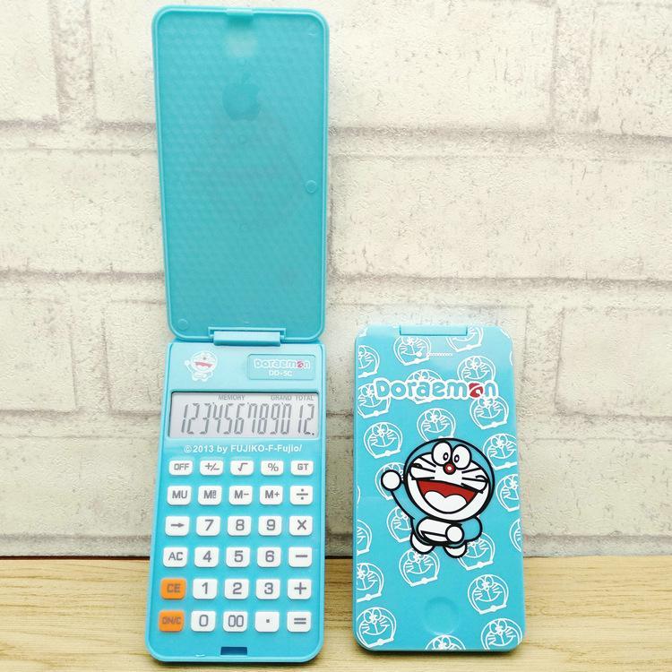Doraemon apple jingle gatos caixa pequena dobrável calculadora DD - 5 c com conveniente