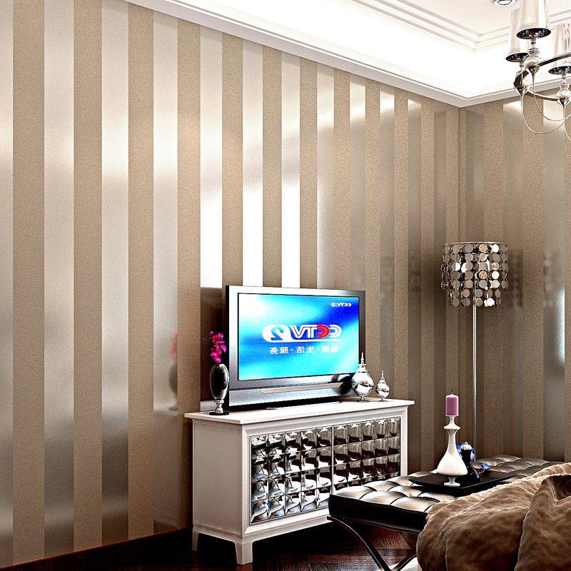 Современные черный обои Полосатый фиолетовый и серебро Блеск Обоев Рулон для Стена Гостиная Спальня Телевизор Диван Backgrod обои