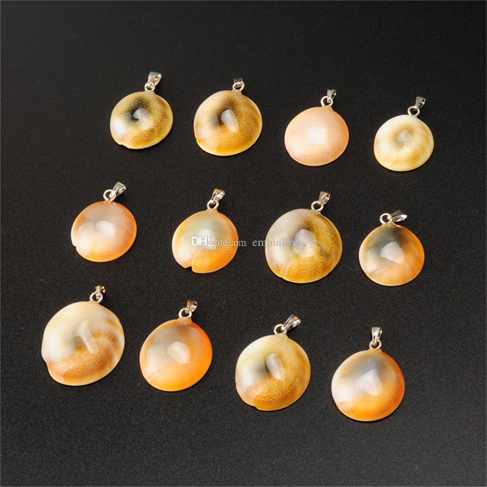 Beautiful Small Natural Shell Stone Pendulum Luxurious Snail Shape Real Agate Charms Beads Animal Pendants for Men and Women Jewelry Vintage