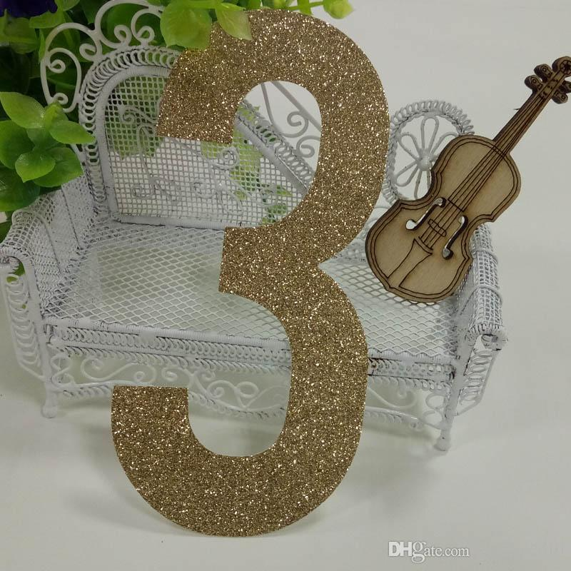 Hot sale 1000pcs gold glitter paper number 3 Decor Festive Birthday Party New Year,Christmas ,Cake