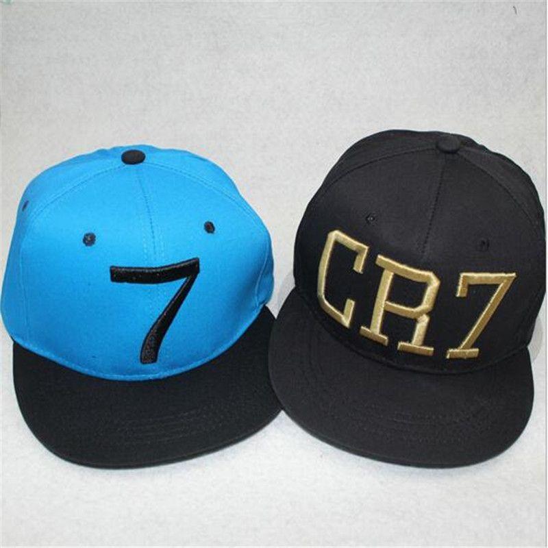 75dc96c08 Fitted Baseball Flat Hat CR7 Black Blue Baseball Caps Hiphop Sports Outdoor  Snapback Football Hat Bone Men Women Cool Caps Flat Brim Hats From ...