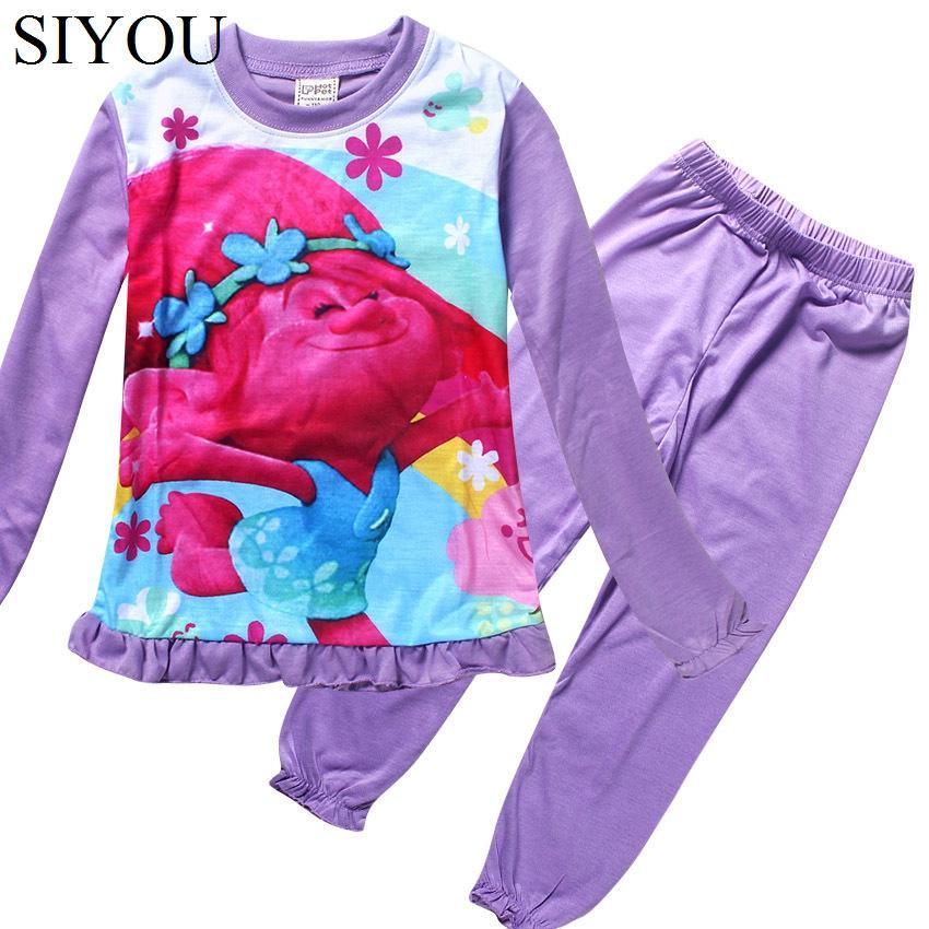 Kids Pajamas Cotton Christmas Pijama Girls Character Robes O Neck ...