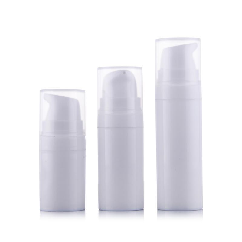 20pcs 10ml 15ml piccolo mini mini vuoto plastica PET PET TONER Profumo Rifinibile Bottiglie Airless Airless Contenitore del campione cosmetico per il viaggio Eb12
