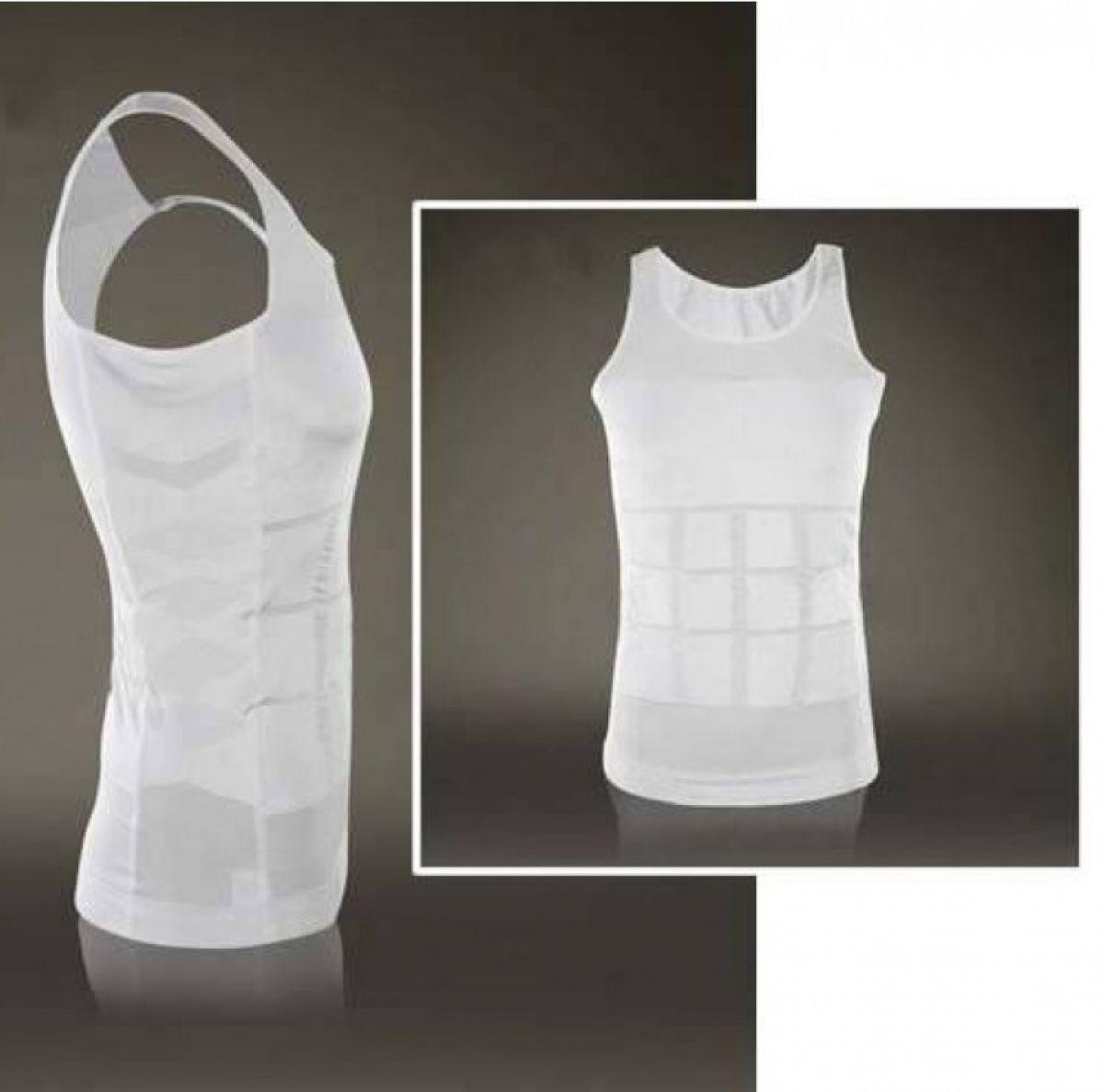SLIMMING SHIRT FOR MEN body sculpting gilet abdomen sous-vêtements couleur unie hommes body shapers livraison gratuite