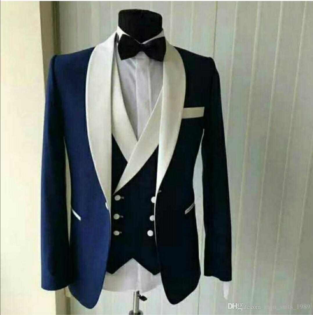 Nuevo traje de hombre trajes de tres piezas catedral novio vestido de novia de moda, cultivar la moralidad negocios traje de negocios formal por encargo