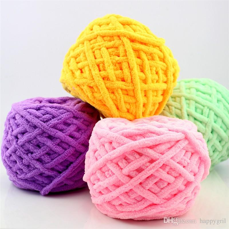 1pc Hilado colorido anudado bufanda tejida a mano Para tejer a mano Soft Milk algodón hilado grueso de lana hilado manta de lana gigante