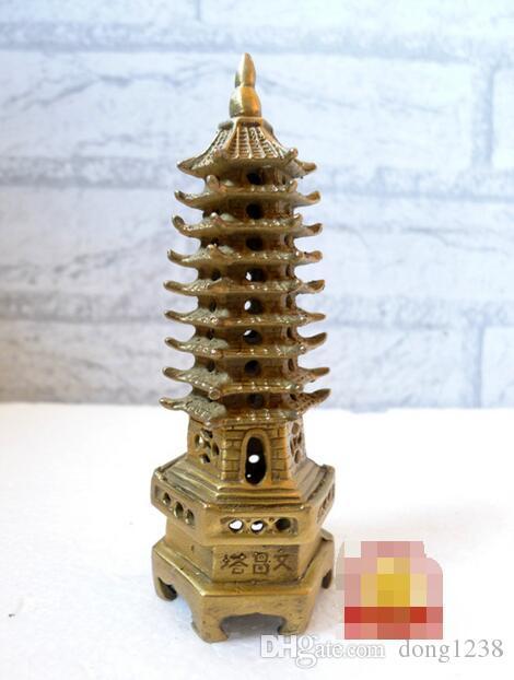 Özel sıcak saf bakır Wenchang kulesi trompet Wenchang kulesi Dekorasyon açık Guang Wang akademik bilgelik tarafından maskot