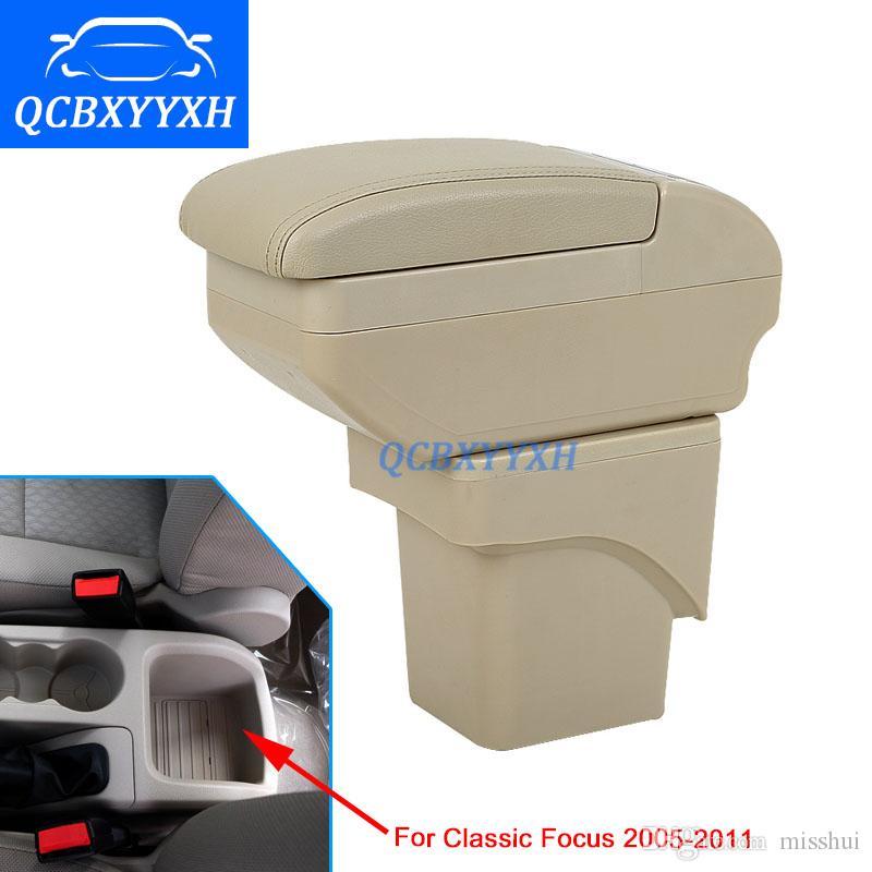 Крышка для Ford Classic Focus 2005-2011 подлокотник коробка Центральный магазин содержание Box подстаканник интерьер стайлинга автомобилей аксессуары