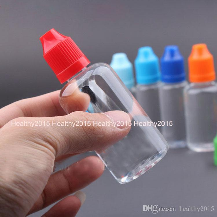 Wholesale USA UK E Juice Child proof Bottles 50ml PET Clear Empty Dropper Bottle Long Dropper Tip Needle Bottles For Electronic Cigarette