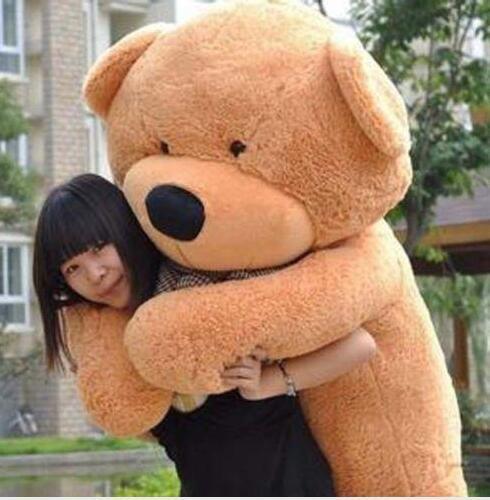 """78"""" Namorada Namorado presente dos namorados 200cm gigante Teddy Bear Stuffed Animal Plush Toy Filha Filho Filhos de aniversário grátis EMS"""