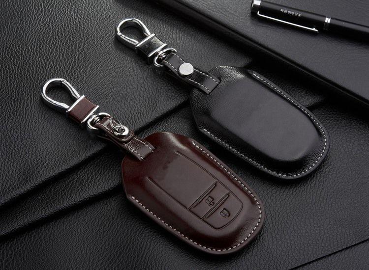 C91 Handcraft Genuine Leather Key Holder Key Ring Key Chain Car Remote Key Case