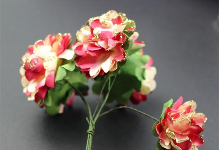 Artificial Paper Bouquet flower for Wedding Decor Candy Box Flowers Accessories for Table Centerpieces 144pcspack (4)