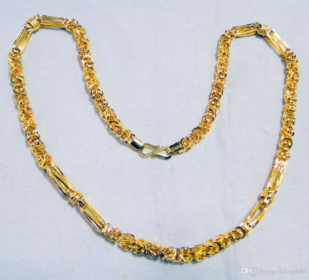 Gold chain Necklace 22K fine Men\'s jewelry jewellery fashion gift ...