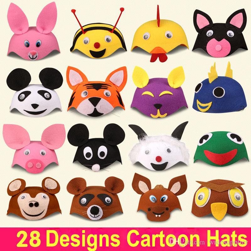 Children's Day Stage Performance Kids Hats Performance Game Parents Cartoon Cartoon Cute Little Animal Hat 32g