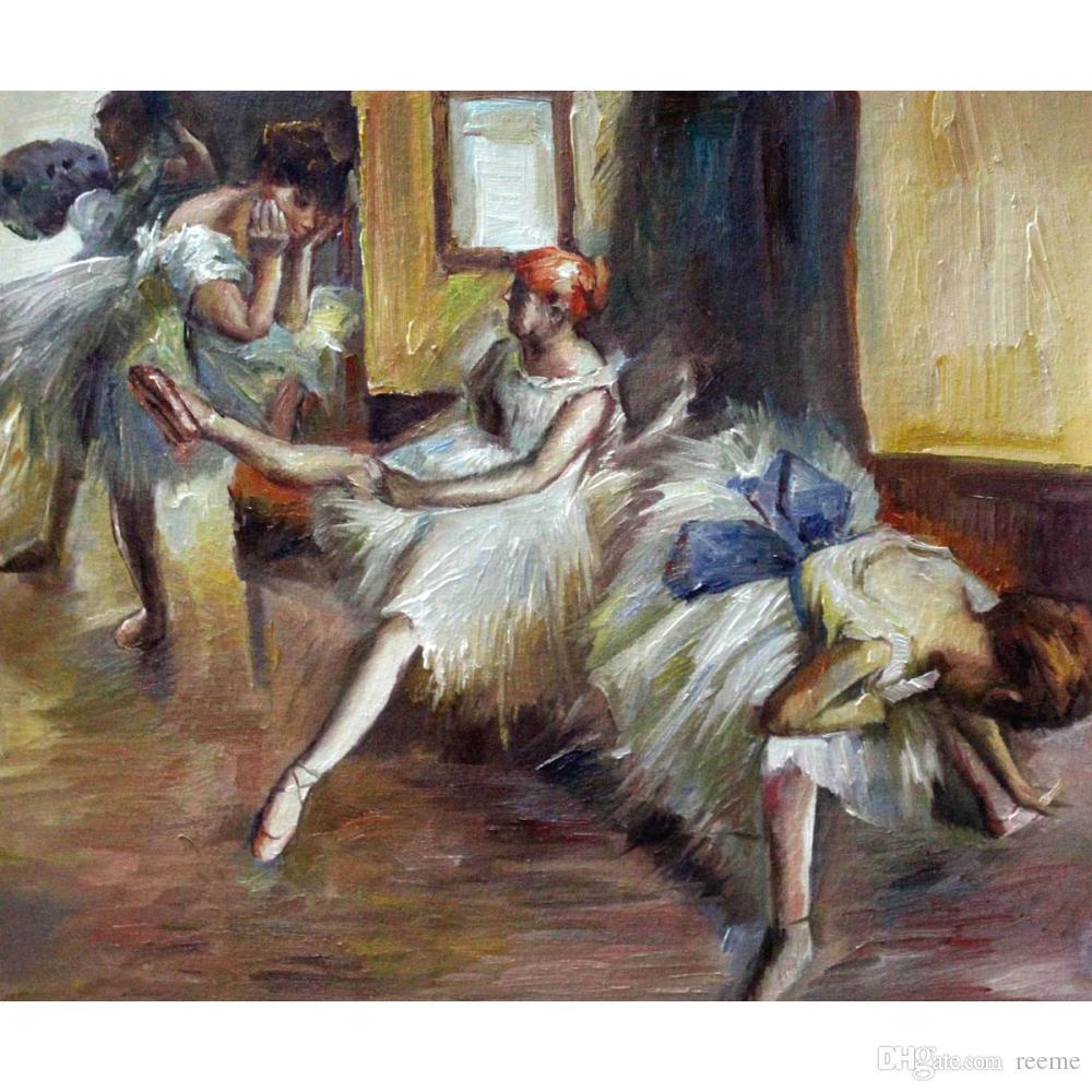 стены искусства картины Эдгар Дега балет Rehersal (подробно) холст, масло home decor ручная роспись