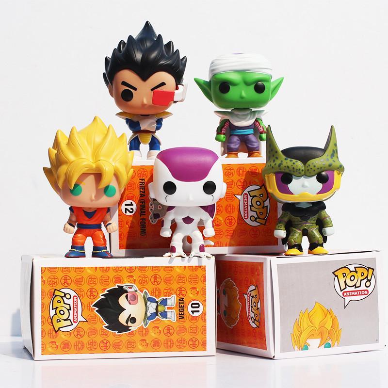 Funko POP 10 см Dragon Ball Z Сон Гоку Вегета Piccolo DBZ Frieza Honeycomb ПВХ Фигурка Коллекция Модель Игрушки для детей верхолаз ужасов