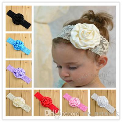 baby hair headbands accessories elastic girl multi colour swirl green flower