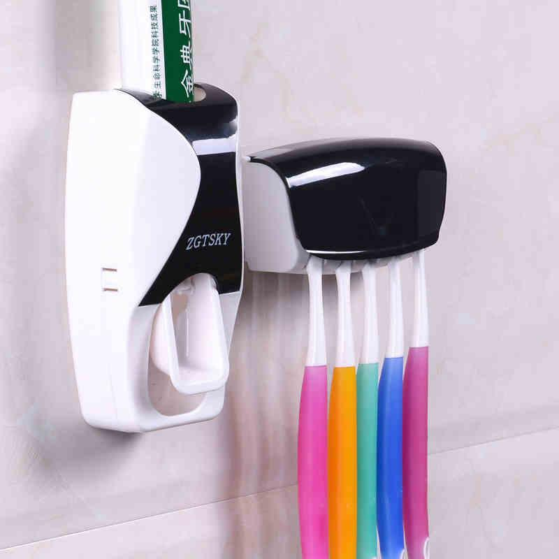 도매 - ONEUP 2016 새로운 패션 자동 치약 치약 장치 벨트 칫솔 홀더 압착기 욕실 세트 욕실 액세서리