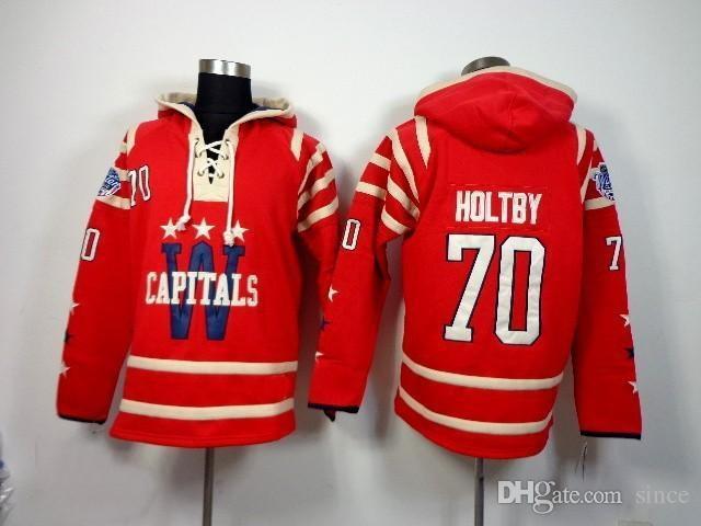 Groothandel Washington Capitals 2016 Nieuwe 70 Braden Holtby Ice Hockey Jerseys Alle gestikte beste kwaliteit Ice Hockey Hoodies