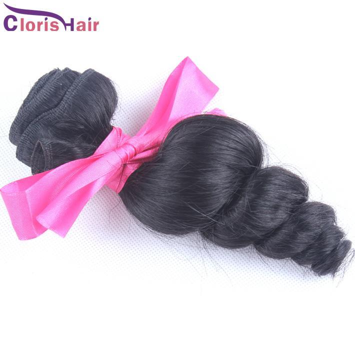 Salon Grade Loose Wave Peruvian Virgin Hair Bouncy Curly Human Hair Extensions Wholesale 1 Bundle Peruvian Loose Curls Weft For Sale