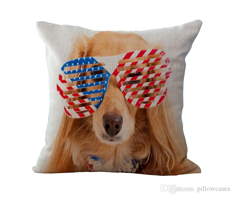 national flag union jack old glory dog pillow cases cushion cover case throw pillowcase linen cotton