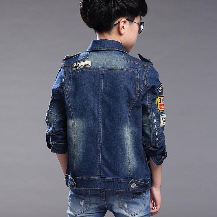 Kids Jean Jacket 2017 New Denim Coat For Boys Kids Denim Jacket