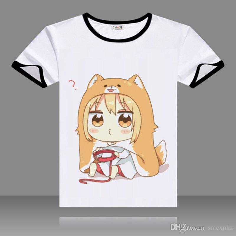 Hot Anime T-shirt Himouto Umaru-chan Cosplay Clothes Men/'s Short Sleeve Tee Top