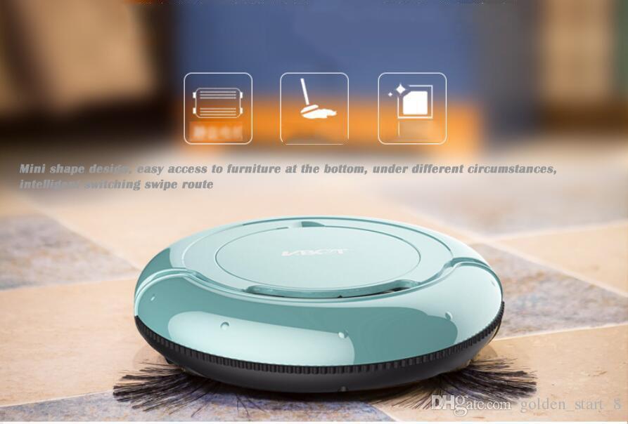 Inteligente Pathfinder Aspirador Automático Inteligente Barredora automática de polvo Máquina barredora de limpieza robot para el hogar de una máquina