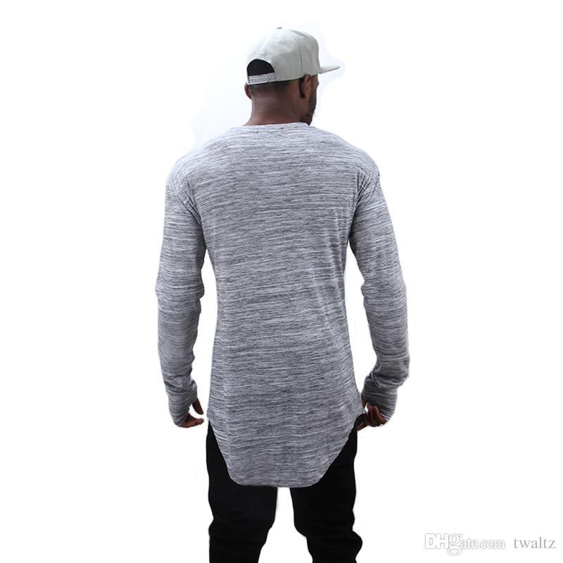 Hand 2021 Westen Erweitern Hip Hop Street Mode Großhandel T-Shirt Marke T Kanye Männer Sommer Langarm Übergröße Design Halten Hemden CETTO