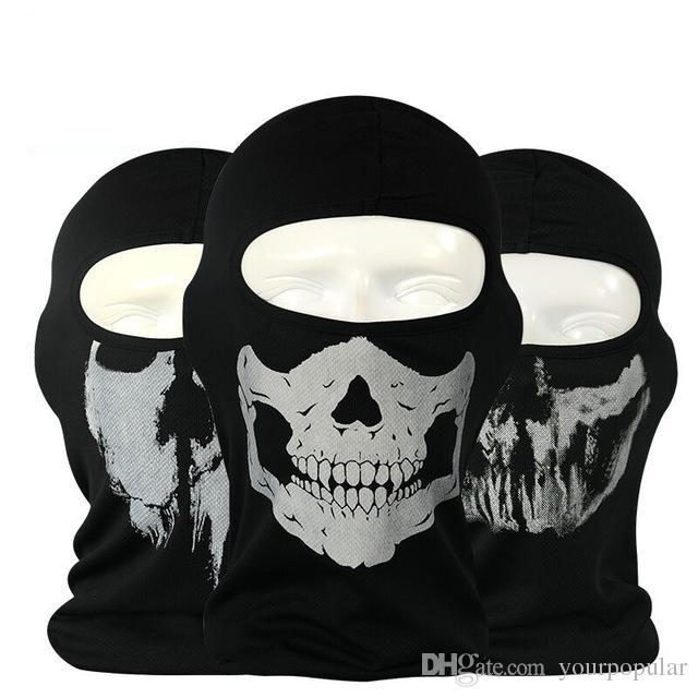20 pieces New Ghost Skull Mask Skeleton Hats Tactical Cosplay Costume Army Balaclava Hood Motorcycle Bicycle Halloween Full Face Masks