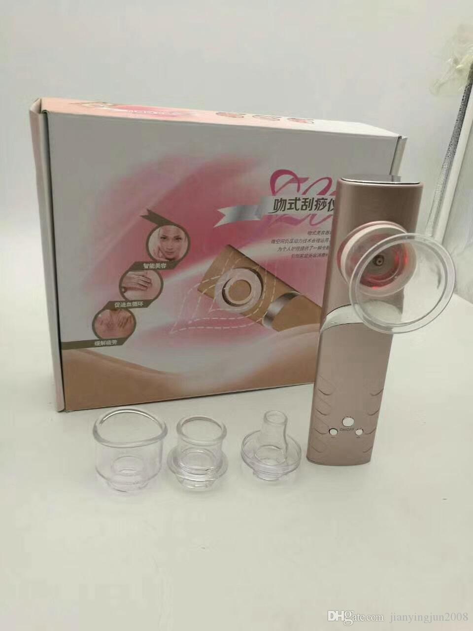 Neueste heiße Griff Vakuum Schröpfen Abnehmen Cellulite Loss Drainage Schönheit Haut Lifting-Gerät (4 Tipps Köpfe verfügbar) für den Heimgebrauch