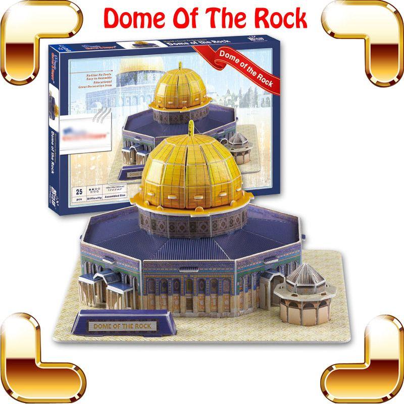 Neujahr Geschenk Felsendom 3D Puzzle Modell Struktur DIY Religion Kirche Puzzle Berühmte Gebäude Gläubiger Sammlung