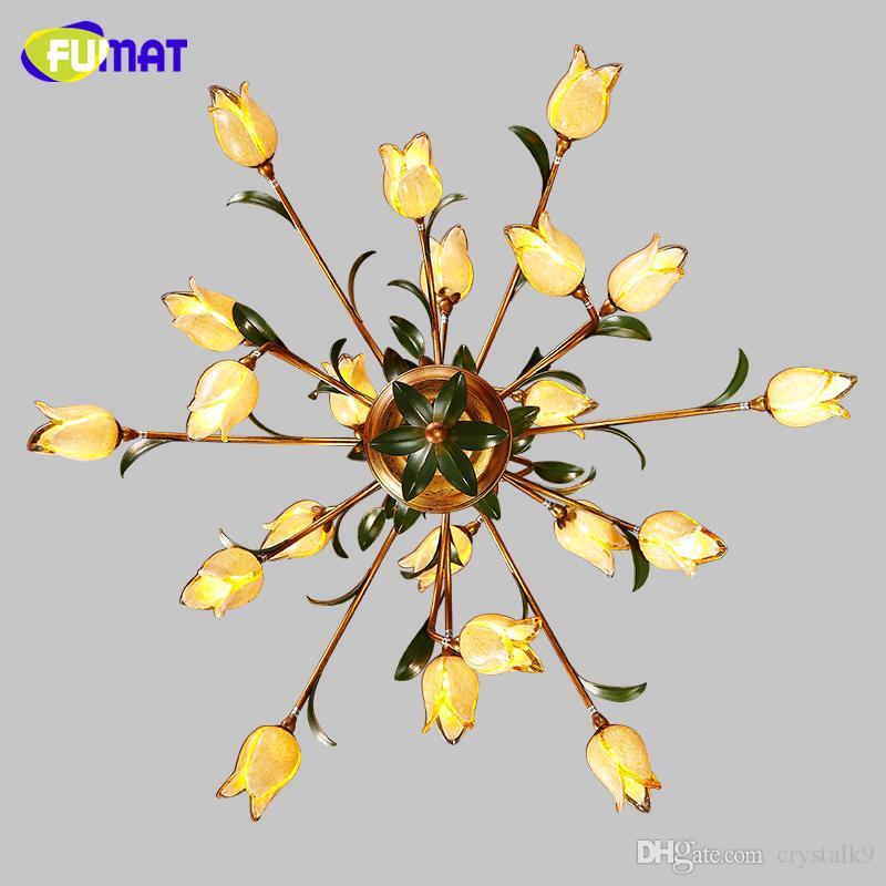 Lampadari in vetro americano FUMAT Lampadari in vetro artistico giallo americano Lampadari a sospensione Art Deco in stile europeo