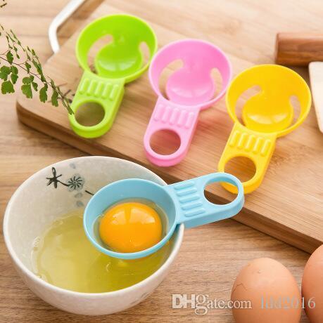 nuovo strumento da cucina di buona qualità in plastica colorata uovo strumenti separatore uovo tuorlo d'uovo separatore spedizione gratuita