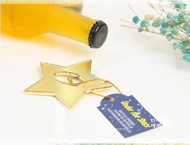 """la festa di nozze favorisce regali e omaggi per gli ospiti - """"Under The Star"""" Opener di bottiglie d'oro, festa presenta souvenir 100 pezzi / lotto"""