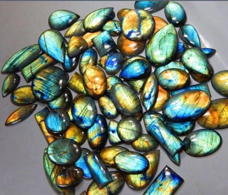 25X25X7 mm 51 CRT Amazing Multi Rare Flashy Fire Labradorite Gemstone Handmade Jewelry Making Stone Loose Cabochon