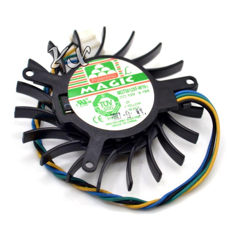 Nuevo MAGIC MGT5012XF-W10 12V 0.19A NV8600GTS ventilador de la tarjeta gráfica Tarjeta de video Ventilador VGA Ventilador 4PIN