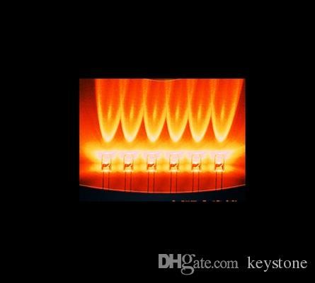 Durch Loch 1000pcs 5MM orange Kerze flackernde LED-Diode für Weihnachten usw.