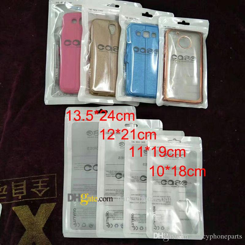 Zip Lock Bags Zipper Retail Package Trasparente Sacchetto trasparente Cellulare PER iPhone 7 Samsung S8 Custodia Sacchetti di plastica per imballaggio Hang Hole Pouches