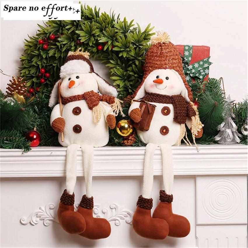 Eco-Friendly Natal di Natale del pupazzo di neve del giocattolo della bambola per il desktop ornamenti migliori regali di Natale per le ragazze di Natale del pupazzo di neve Per la casa