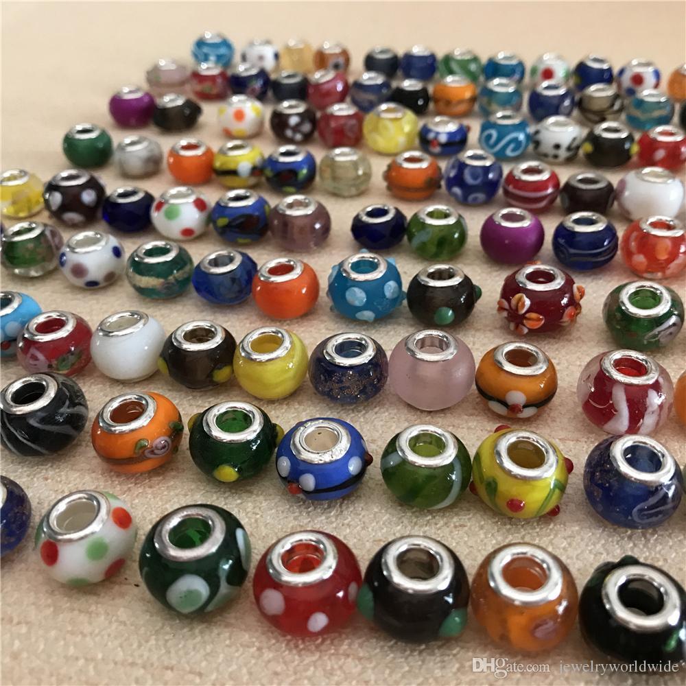 Mescoli la perla di vetro di Maruno lega il fascino di stile europeo dei gioielli di modo della resina di cristallo fatta a mano o di cristallo per la promozione del braccialetto di Pandora
