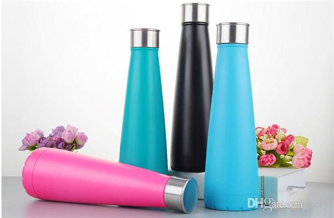 17oz 500ml Cola Shaped Bottle Insulated Double Wall Vacuum The 2nd Generation Water Bottle Creative Thermos bottle Coke cup